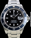 ROLEX 16610  JOHN COLTRANE SUBMARINER BOX PAPERS