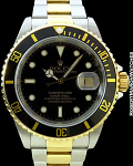 ROLEX 16613 18K/STAINLESS STEEL SUBMARINER BOX AND PAPERS