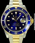 ROLEX SUBMARINER 16613 18K/STEEL BLUE DIAL