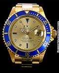 ROLEX SUBMARINER 16618 18K SERTI DIAL NEW BOX PAPERS