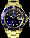 ROLEX SUBMARINER 16618 18K NEW OLD STOCK BOX & PAPERS