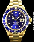 ROLEX 16618 18K SUBMARINER BLUE DIAL