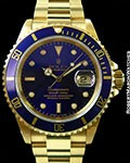 ROLEX 16618 18K SUBMARINER NEW OLD STOCK BOX & PAPERS