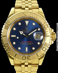 ROLEX YACHTMASTER BLUE DIAL JUBILEE BOX/PAPER