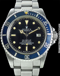 "ROLEX REF 16660 SEA DWELLER TROPICAL BLUE 'COLTRANE"" BEZEL ORIGINAL BOX/PAPERS CIRCA 1983"