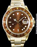 ROLEX GMT II 16718 18K ROOTBEER OYSTER BRACELET