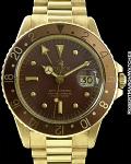ROLEX REF 1675 VINTAGE GMT-MASTER BROWN DIAL 18K CIRCA 1978