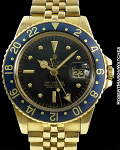 ROLEX REF 1675 GMT MASTER COLTRANE UNPOLISHED 18K
