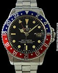 ROLEX GMT 1675 GILT GLOSS DIAL STEEL