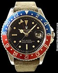 ROLEX 1675 GMT GILT GLOSS ! EXCLAMATION CHAPTER DIAL STEEL