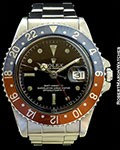 ROLEX PROTOTYPE 1675 GMT GILT UNDERLINE DIAL STEEL