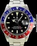 ROLEX 1675 GMT LONG E STAINLESS STEEL