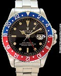 ROLEX 1675 GMT MASTER STAINLESS GILT DIAL BOX & PAPERS