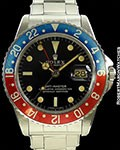 ROLEX GMT 1675 POINTED CROWN GUARDS GILT TROPICAL DIAL