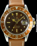 ROLEX REF 1675 GMT-MASTER ROOTBEER MINT CIRCA 1973