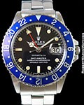 ROLEX 1675 GMT MASTER TIFFANY & CO BLUEBERRY STAINLESS AUTOMATIC