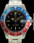 ROLEX 1675 PEPSI GILT GLOSS CHAP-RING SM/RED-24HR TOP BEZEL