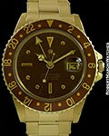 ROLEX GMT 1675 UNPOLISHED 18K HAVANA BROWN