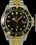 ROLEX 16753 GMT MASTER UNPOLISHED 18K & STAINLESS AUTOMATIC