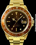 ROLEX 16758 GMT MASTER HAVANA BROWN 18K AUTOMATIC