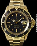 ROLEX 1680 SUBMARINER 18K BLACK NIPPLE DIAL AUTOMATIC