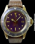 ROLEX 1680 SUBMARINER 18K COLOR CHANGE DIAL PURPLE & GOLD