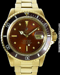 ROLEX SUBMARINER 1680 18K TROPICAL BROWN BEZEL & DIAL
