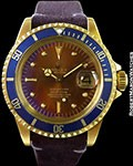 ROLEX 1680 SUBMARINER TROPICAL DIAL 18K AUTOMATIC