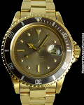 ROLEX SUBMARINER 1680 UNPOLISHED 18K DEEPLY TROPICAL w/ BOX & PAPERS