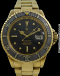 ROLEX REF 1680 SUBMARINER 18K NIPPLE DIAL INCREDIBLE PATINA B/P COMPLETE PLUS
