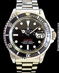 ROLEX 1680 RED SUBMARINER STEEL AUTOMATIC