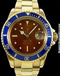 ROLEX TROPICAL SUBMARINER 1680 18K PATENT PENDING CLASP BOX & PAPERS