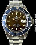 ROLEX TROPICAL 16800 SUBMARINER STAINLESS AUTOMATIC