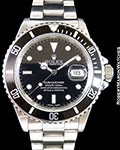 ROLEX SUBMARINER 168000 TRANSITIONAL 904L STEEL