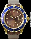 ROLEX 16808 UNPOLISHED 18K SUBMARINER TROPICAL COLOR CHANGE DIAL