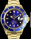 ROLEX SUBMARINER 18K 16808 BLUE DIAL