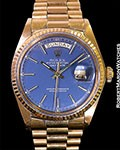 ROLEX DAY DATE 1803 18K ROSE BLUE DIAL 1978