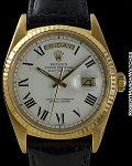 ROLEX DAY-DATE 1803 RARE WHITE BUCKLEY DIAL CIRCA 1977