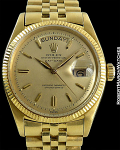 ROLEX REF 1803 DAY-DATE COIN EDGE BEZEL SPECTACULAR CONDITION INCREDIBLY RARE CIRCA 1972