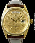 ROLEX 1803 DAY DATE 18K MOIRE FINISH & DIAL