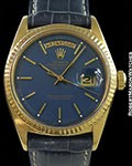 ROLEX 1803 DAY DATE PRESIDENT 18K AMAZING BLUE DIAL