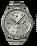 ROLEX 1803 DAY DATE PRESIDENT 18K AUTOMATIC DIAMOND DIAL W/ DIAMOND BEZEL