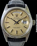ROLEX 1803 DAY DATE PRESIDENT 18K IVORY DIAL BLACK HANDS & MARKERS