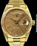 ROLEX 1803 DAY DATE PRESIDENT 18K TAUPE WHITE PRINT DIAL
