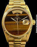 ROLEX 18038 DAY DATE PRESIDENT TIGER EYE 18K AUTOMATIC