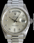 ROLEX 18039 DAY-DATE WHITE GOLD PRESIDENT