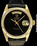 ROLEX 18078 DAY DATE PRESIDENT ONYX DIAL 18K AUTOMATIC