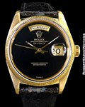 ROLEX 18078 DAY DATE PRESIDENT ONYX DIAL 18K YG AUTOMATIC