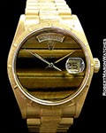 ROLEX DAY DATE PRESIDENT 18078 18K TIGER'S EYE