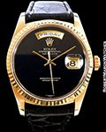 ROLEX 18238 OYSTER PERPETUAL DAY DATE ONYX DIAL BOX PAPERS